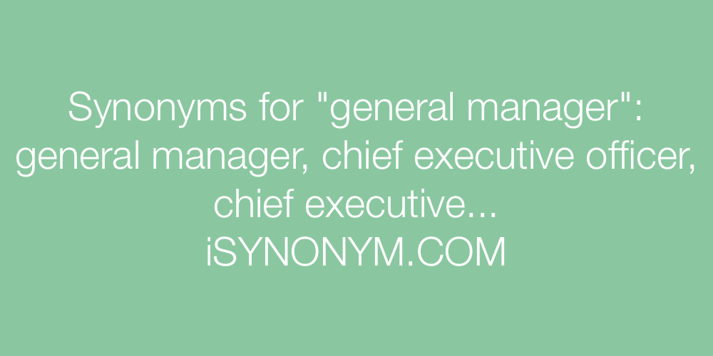 Synonyms general manager