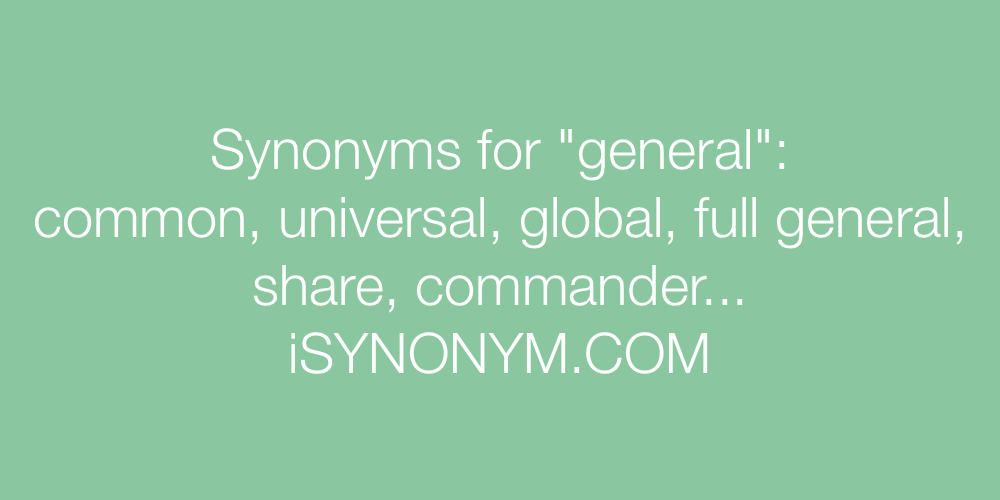 Synonyms general