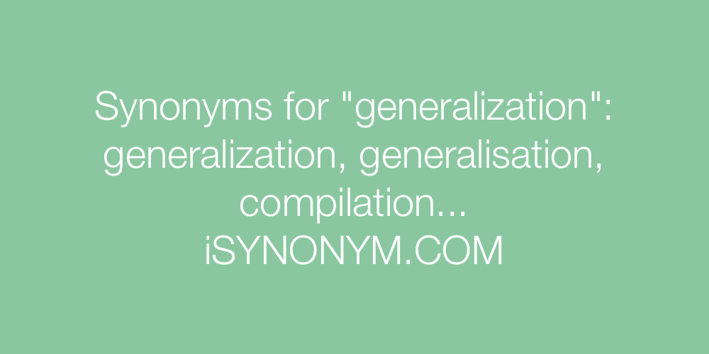 Synonyms generalization