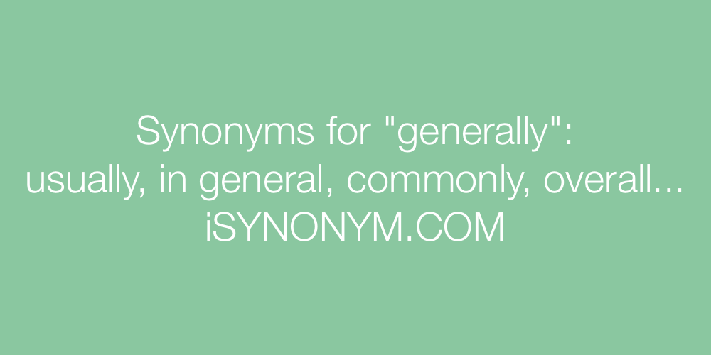 Synonyms generally