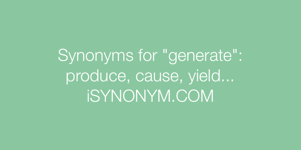 Synonyms generate