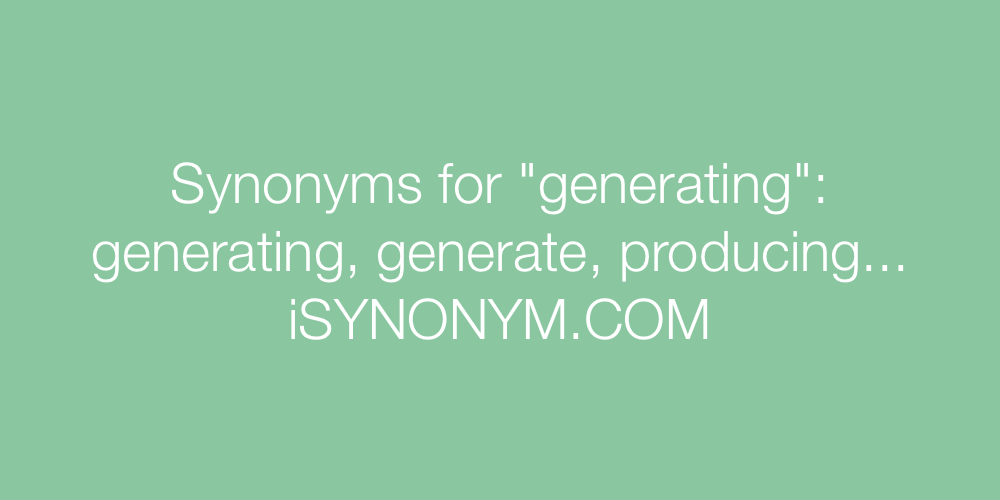Synonyms generating