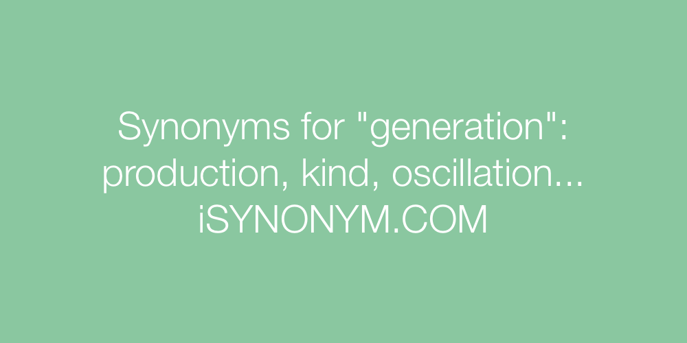Synonyms generation