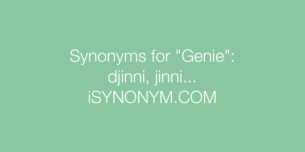 Synonyms Genie