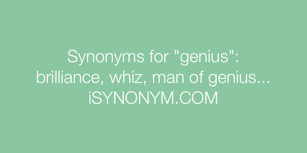 Synonyms genius