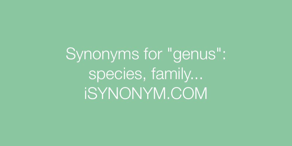 Synonyms genus
