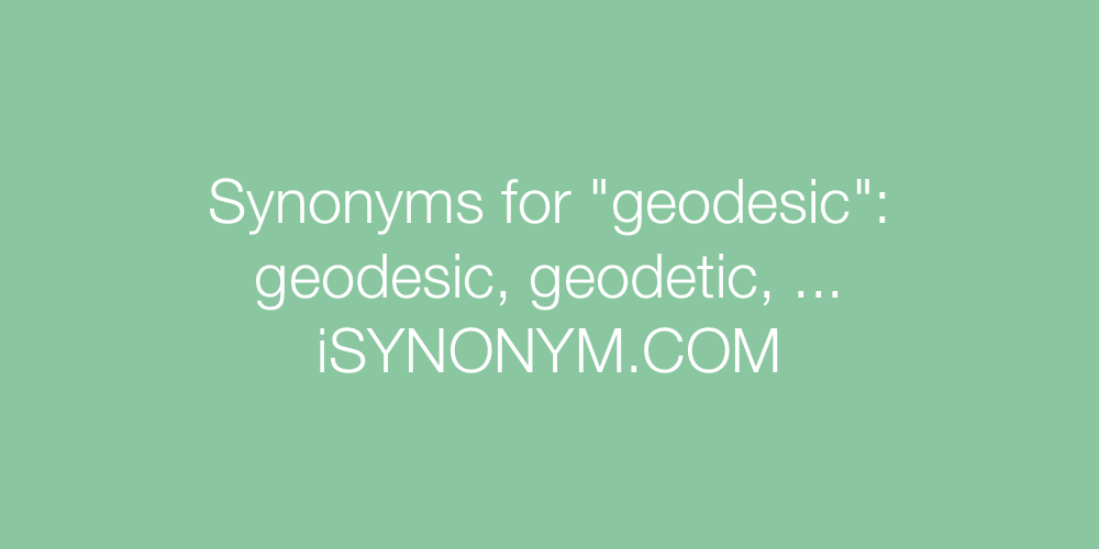 Synonyms geodesic
