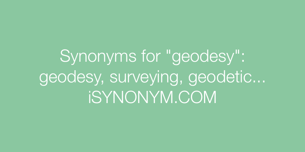 Synonyms geodesy