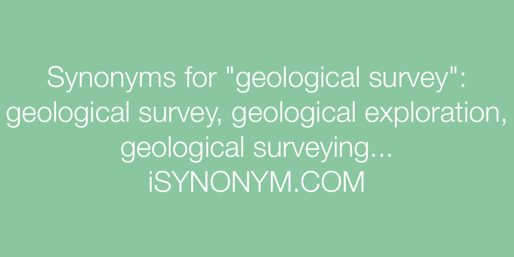 Synonyms geological survey