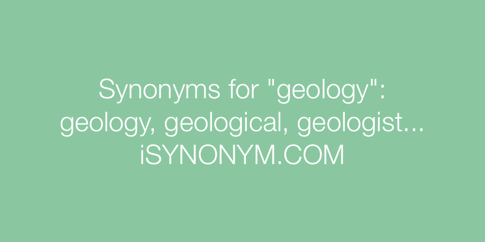 Synonyms geology