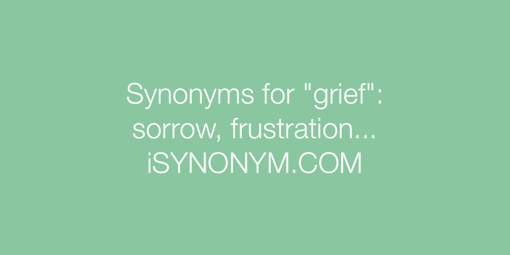 Synonyms grief