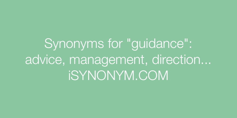 Synonyms guidance
