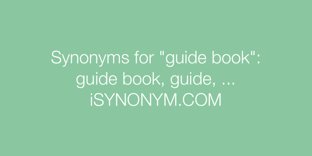 Synonyms guide book