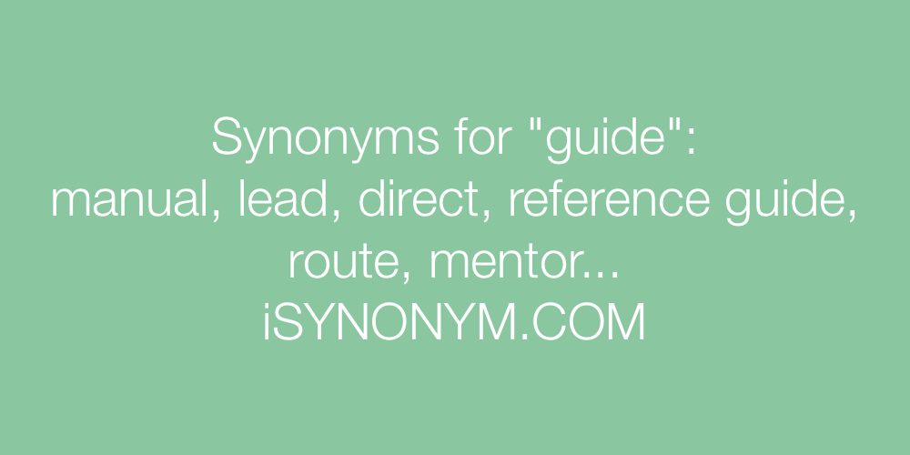 Synonyms guide