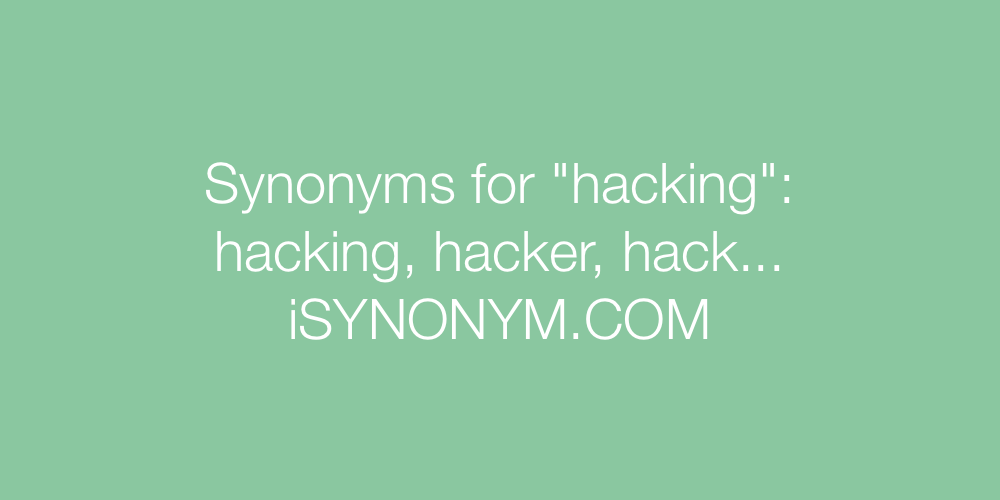 Synonyms hacking