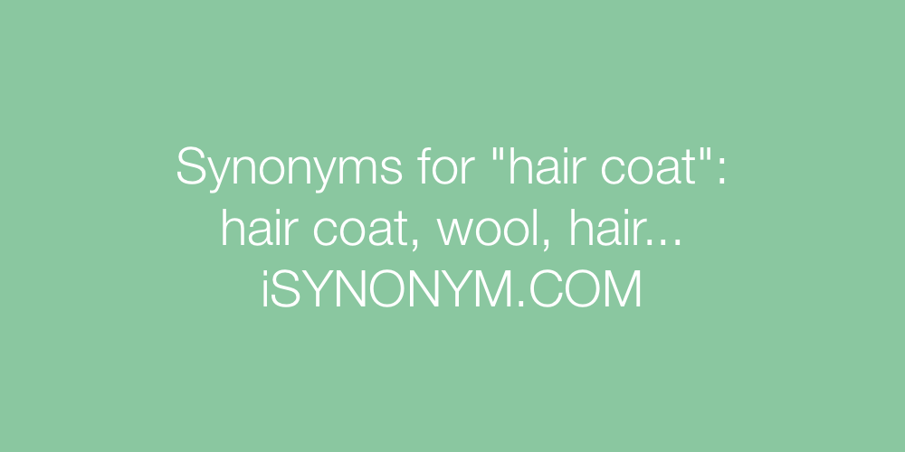 Synonyms hair coat
