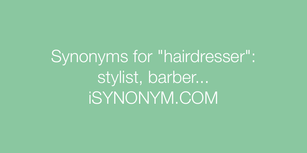 Synonyms hairdresser