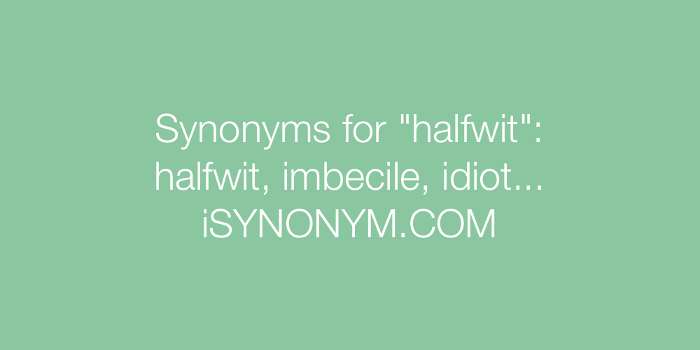 Synonyms halfwit