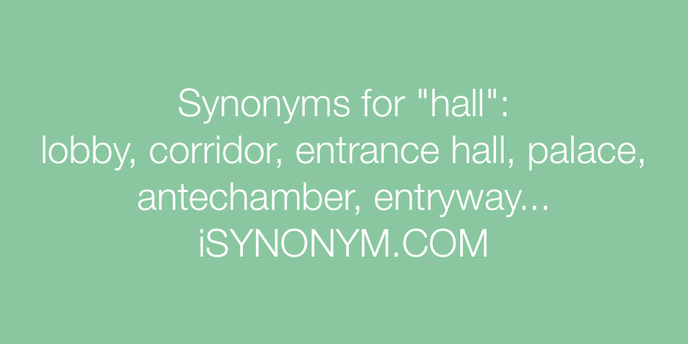 Synonyms hall