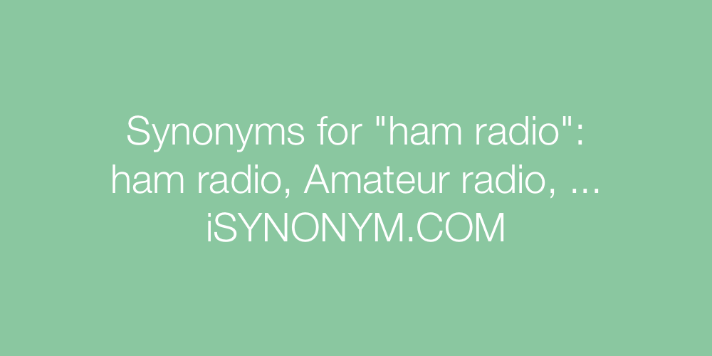 Synonyms ham radio