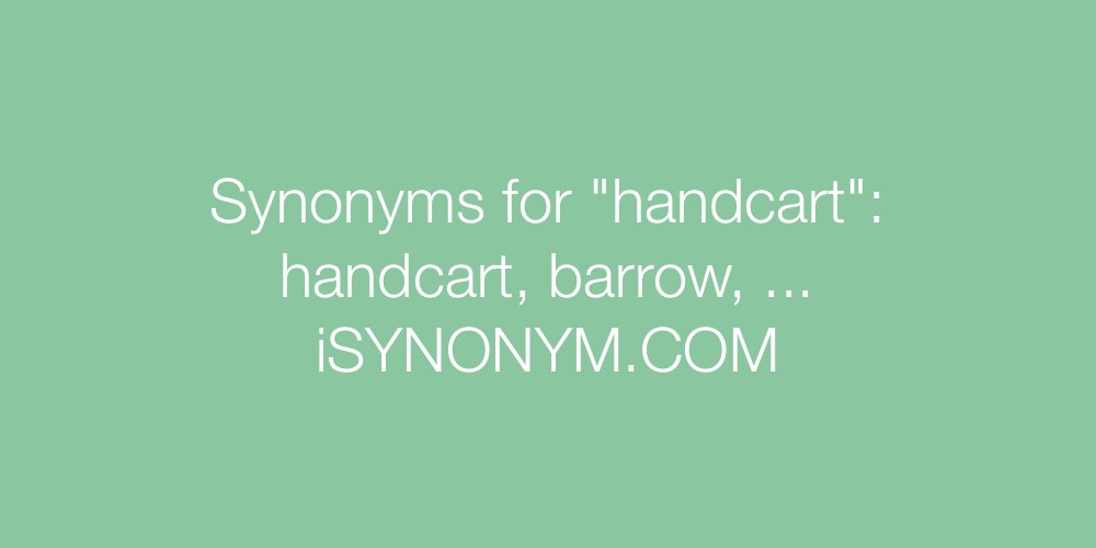 Synonyms handcart