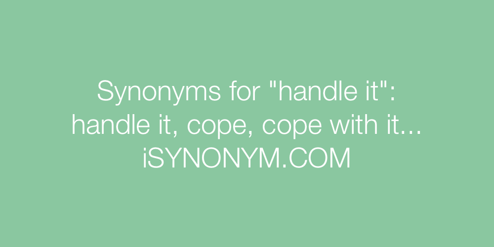 Synonyms handle it