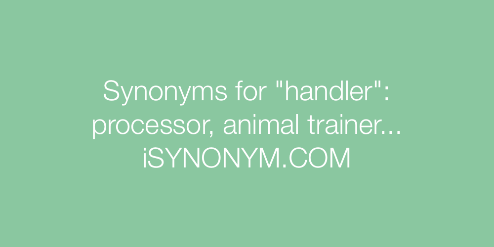 Synonyms handler