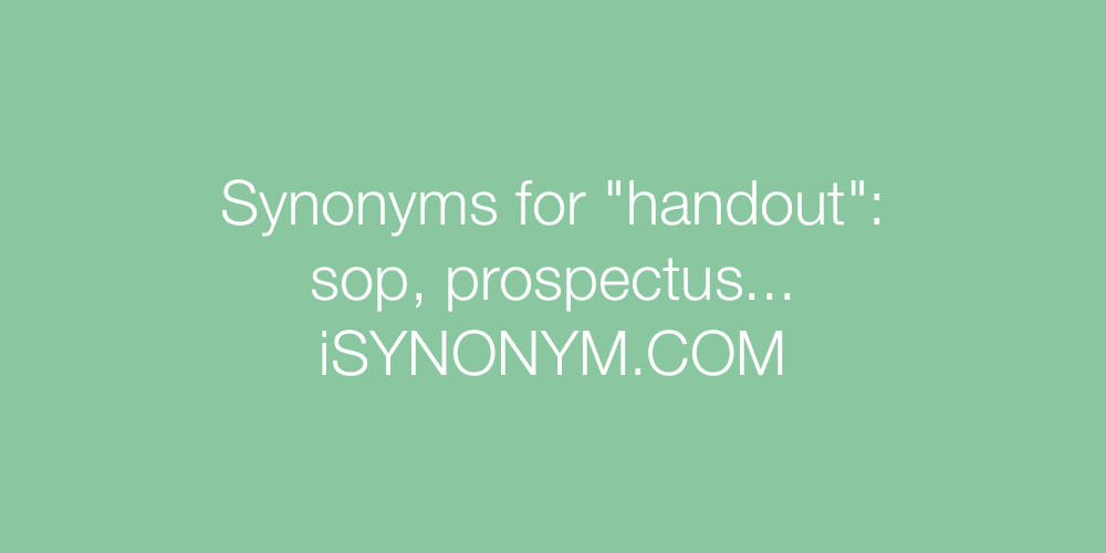 Synonyms handout