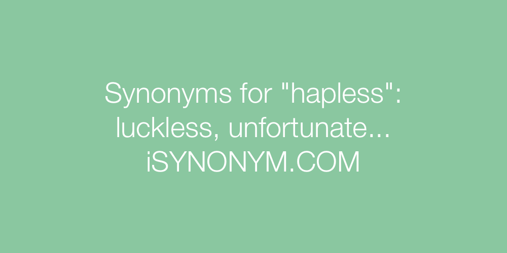 Synonyms hapless