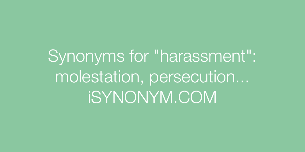 Synonyms harassment