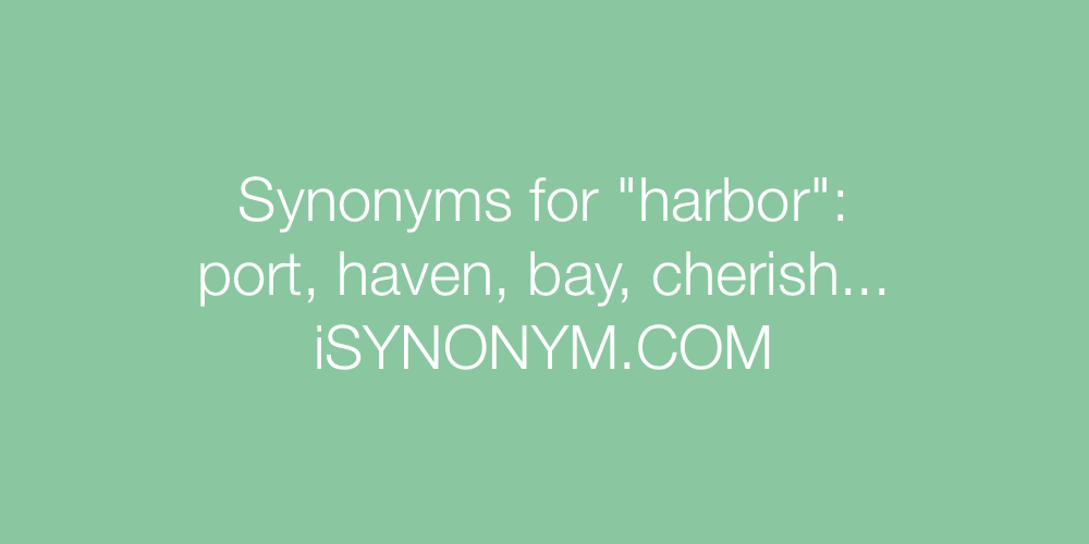 Synonyms harbor