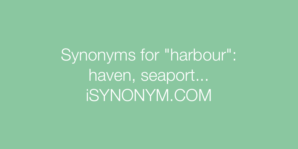 Synonyms harbour