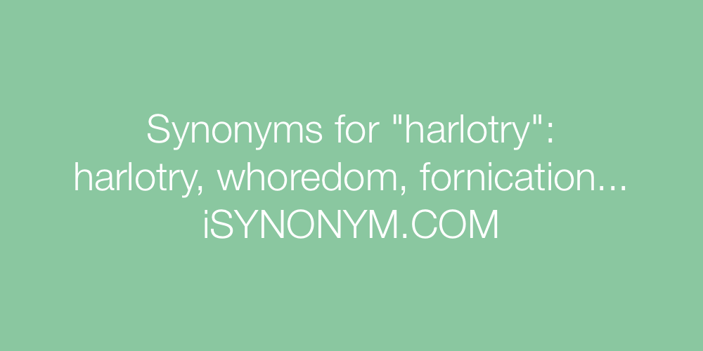 Synonyms harlotry