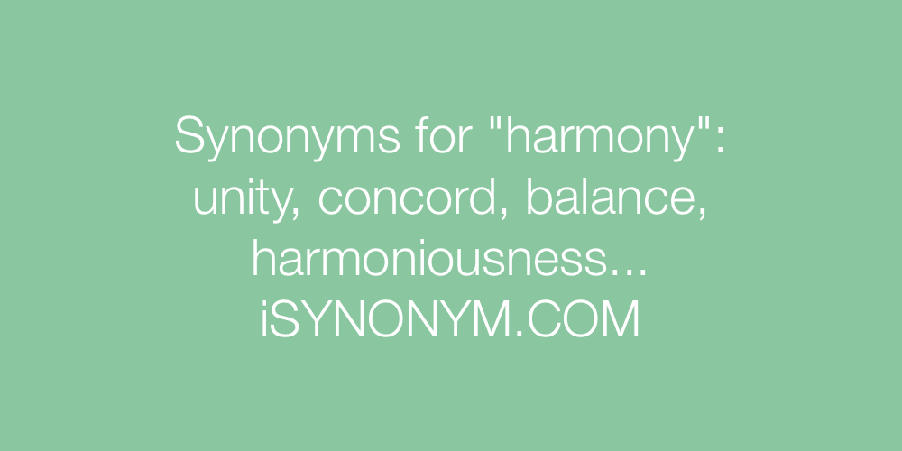 Synonyms harmony