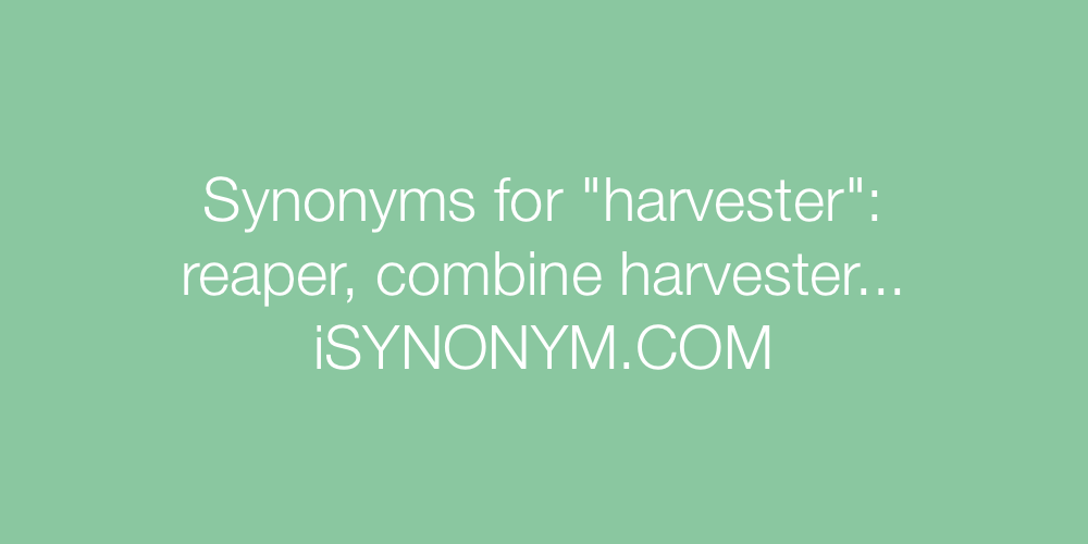 Synonyms harvester