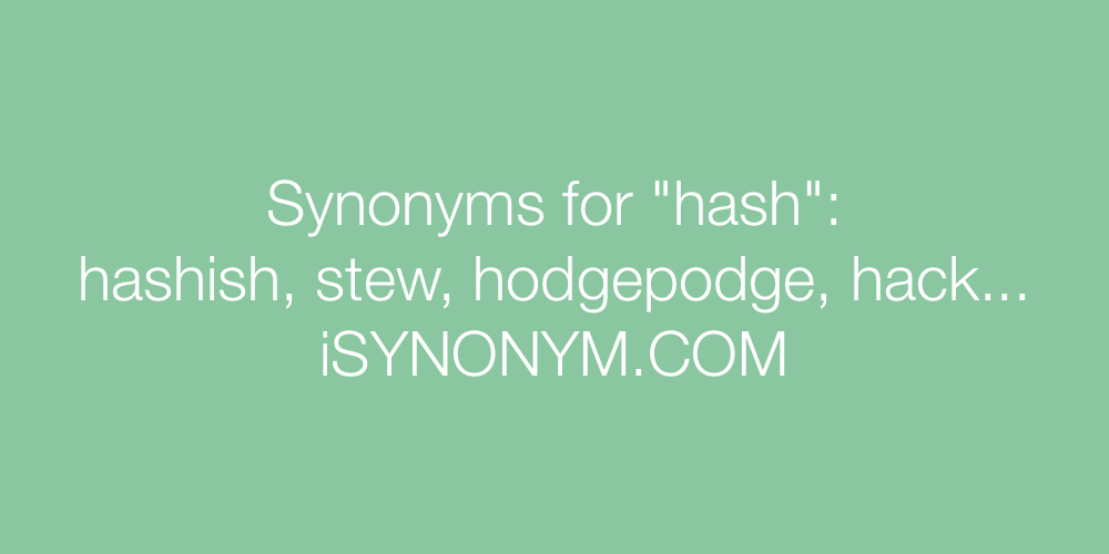 Synonyms hash