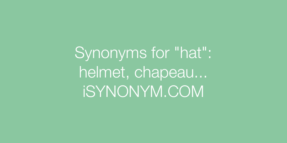 Synonyms hat