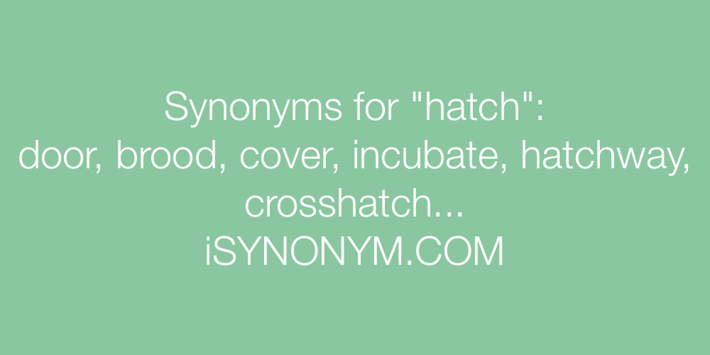 Synonyms hatch