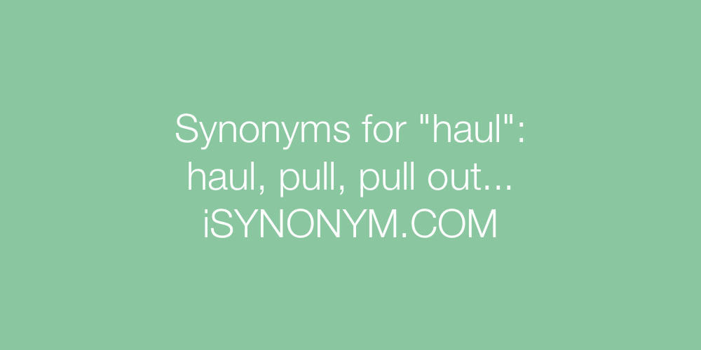 Synonyms haul