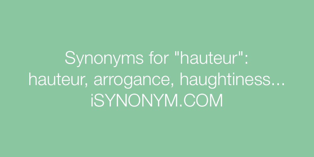 Synonyms hauteur