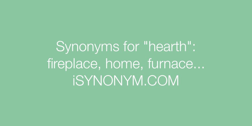 Synonyms hearth