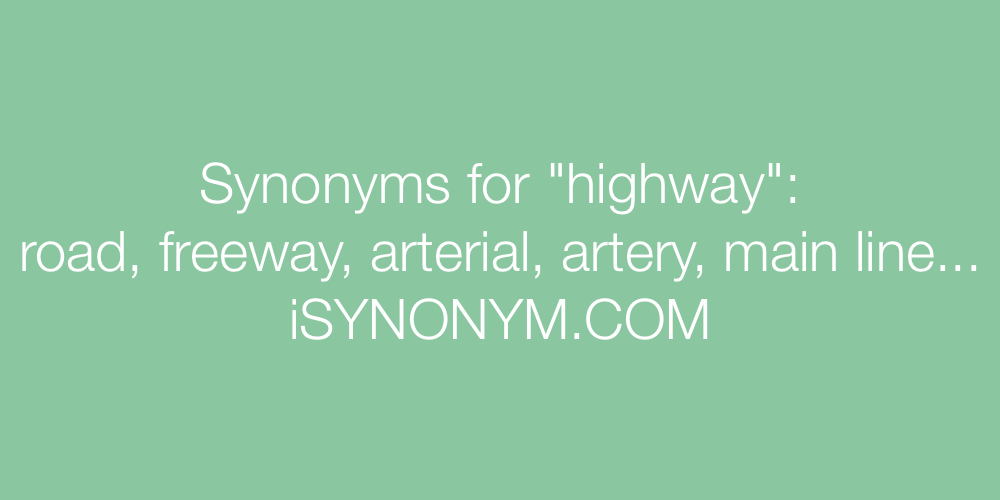 Synonyms highway