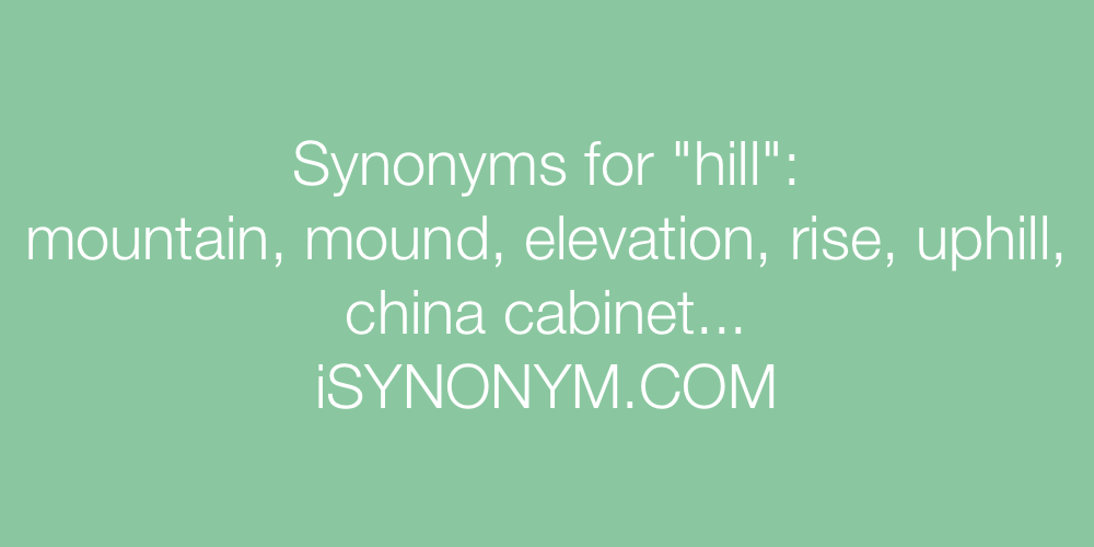 Synonyms hill