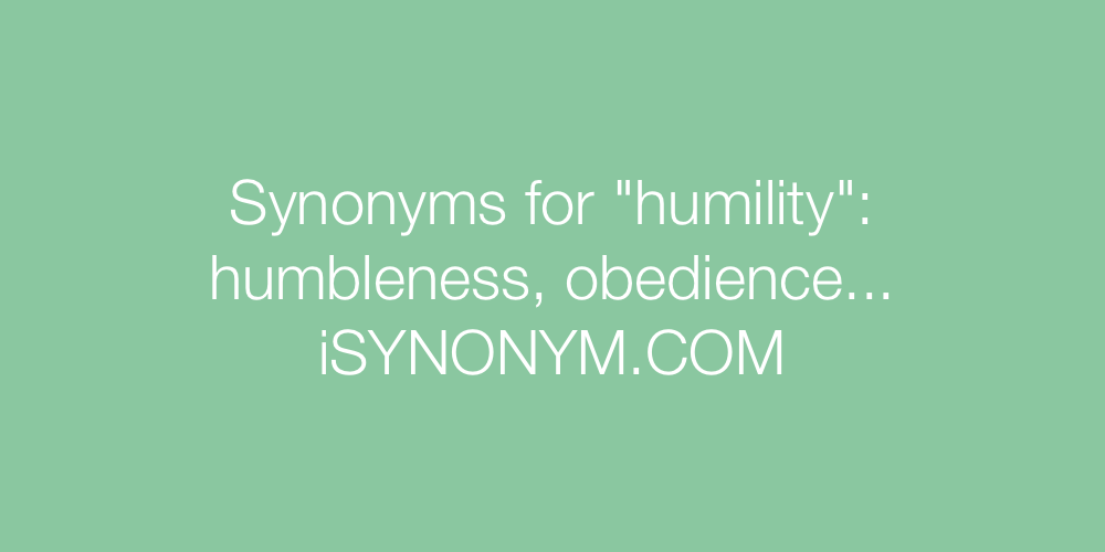 Synonyms humility