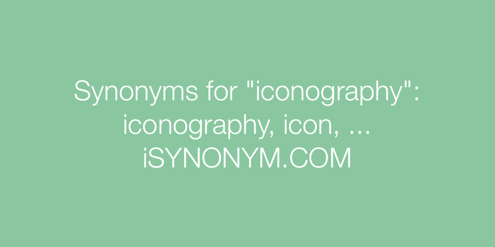 Synonyms iconography