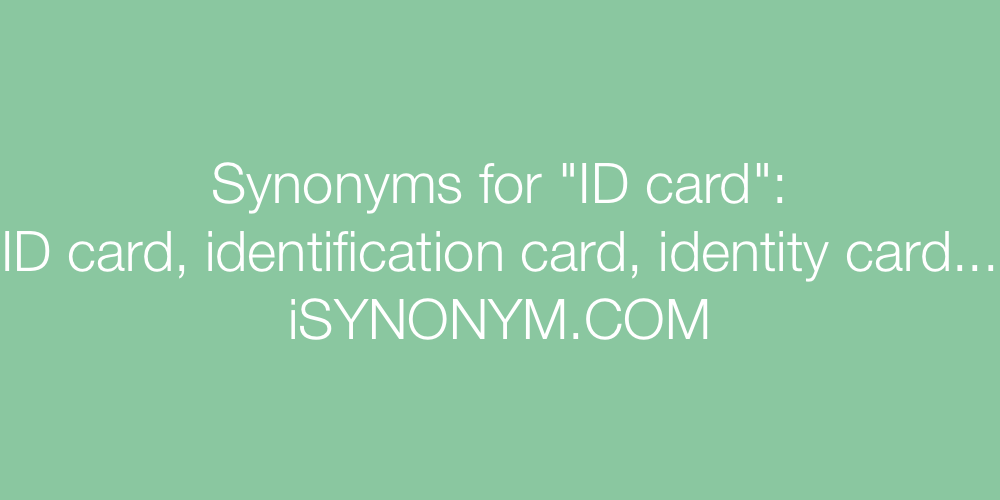 Synonyms ID card