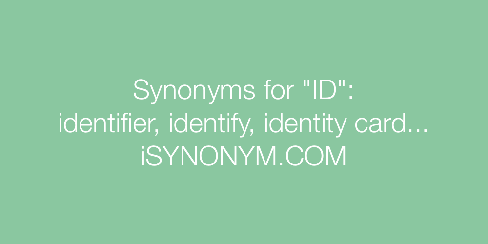 Synonyms ID