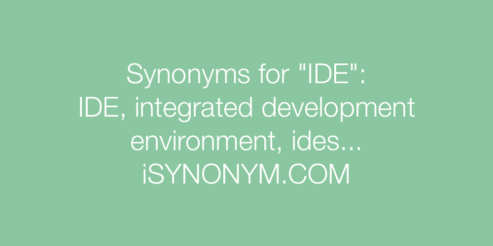 Synonyms IDE