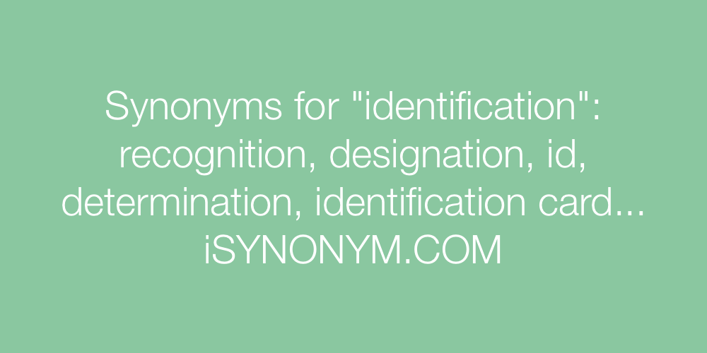 Synonyms identification