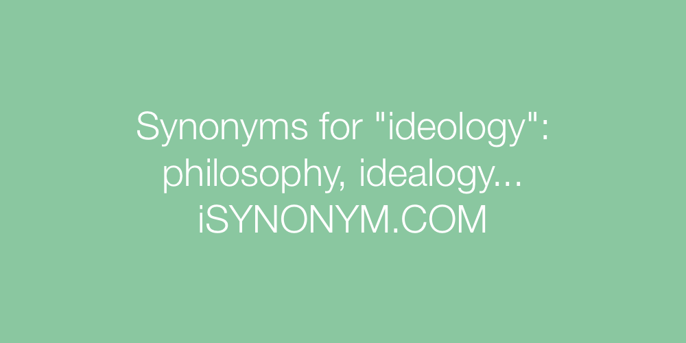 Synonyms ideology
